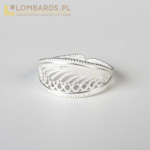 nowy srebrny pierścionek...